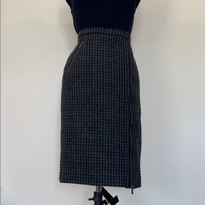 J. Crew houndstooth wool skirt